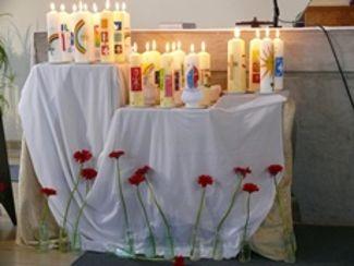 Kerzen der Jubilare